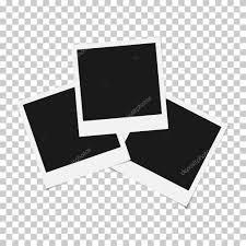 set of mixed blank photo polaroid frame isolated on transparent