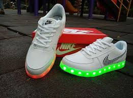 led lights shoes nike led light up nike air force one lighting soles white sneakers for