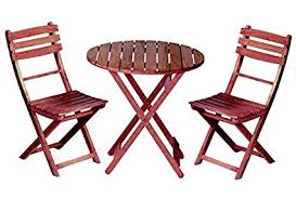 Folding Bistro Table And 2 Chairs 3 Pc Bistro Set Wood Table 2 Chairs