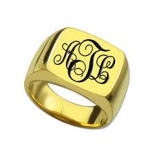 Gold Monogram Ring Gold Monogram Rings Reviews Online Shopping Gold Monogram Rings