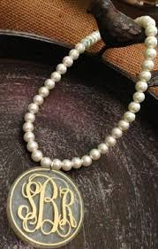 pearl monogram necklace belk co 14k yellow gold t monogram necklace yellow gold one