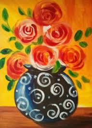 Flower Vase Painting Ideas Easy Flower Pictures To Paint Best Flower In The Word 2017