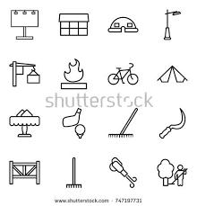 Garden Rake Types - types lighting indoor use line icons stock vector 355561445
