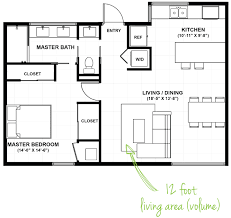 risdon on 5th one bedroom residence floor plan