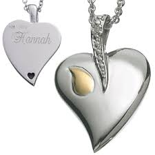 photo engraved necklace sterling silver memorial heart engraved necklace with diamond