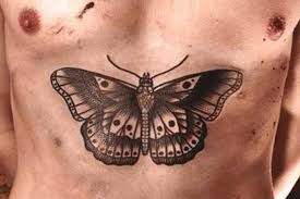butterfly on chest meaning design idea