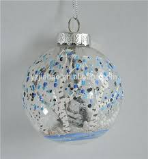personalized glass ornaments personalized clear