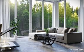 living room floor to ceiling windows also sliding door plus beige