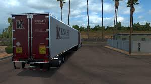 truck pack v1 5 american truck simulator mods ats mods dc knight w900 trailer skin pack for ats v1 american truck