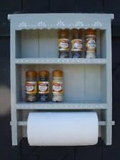 Shabby Chic Spice Rack Handmade Spice Jars And Racks Ebay