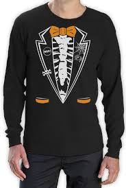 funny halloween t shirts halloween skeleton tuxedo long sleeve t shirt funny easy costume