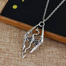 skyrim dragon pendant necklace images Skyrim dragon necklace dragon logo game fantasy amulet elder jpg