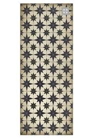 white atomic vinyl floor cloth cottage home