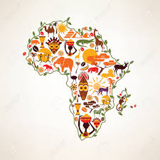 Africa Continent Map by Africa Travel Map Decrative Symbol Of Africa Continent With