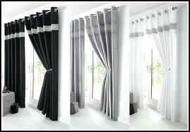 Silver Black Curtains Silver And White Curtains Silver Eyelet Curtains For Doors