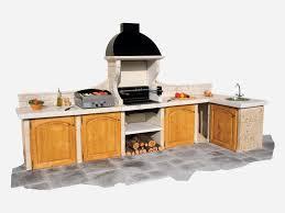 barbecue cuisine cuisine d t ext rieure avec barbecue en reconstitu e ete