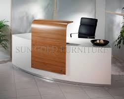 modern new design glass and wood office front desk beauty salon