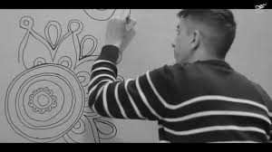 flowers painting on wall youtube