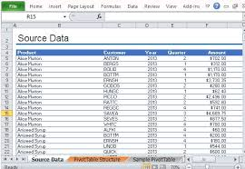 Excel Pivot Table Template Sle Pivottable Report For Excel