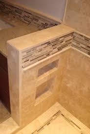 set straight tile travertine shower u0026 back splash with glass