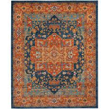 Orange And Blue Area Rug Safavieh Evoke Blue Orange 8 Ft X 10 Ft Area Rug Evk275c 8 The