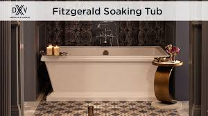 Freestanding Soaking Tubs Fitzgerald Freestanding Soaking Tub By Dxv Youtube
