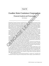 stmt analysis garden state container corporation 1 equity