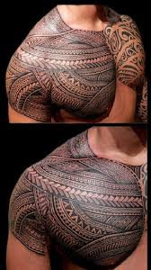 14 best shoulder and chest tribal tattoo images on pinterest cap