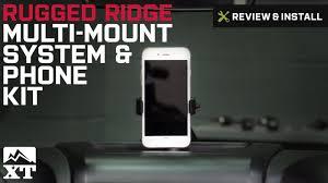 jeep wrangler rugged ridge dash multi mount system and phone kit