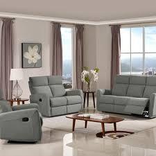 victoria reclining sofa set fabric code k26 gray husky