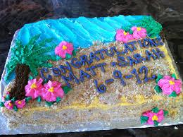 Kitchen Tea Cake Ideas Beach Themed Buttercream Bridal Shower Cake Thecakebaker