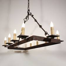 buy a hand made custom 10 light iron chandelier made to order