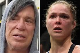 Mickey Rourke News Newslocker - ronda rousey given life advice from mickey rourke after ufc defeat