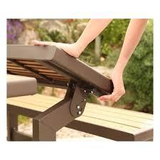 lifetime faux wood convertible bench kit 60054