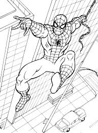 spiderman images kids coloring