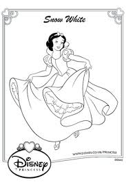 snow white colouring disney drawing snow