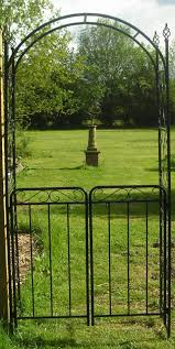 garden arch with gate uk home outdoor decoration