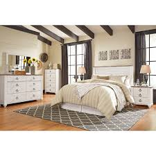 Ashley Signature Bedroom Furniture Signature Design By Ashley Willowton Queen Full Bedroom Group