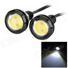 eagle view tattoo machine lights exled 1 5w 110lm led white light eagle eyes light for car 12v pair