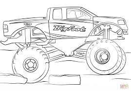 monster truck bigfoot video bigfoot monster truck coloring page free printable coloring pages