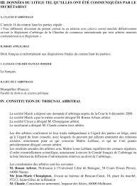 chambre d arbitrage de concours international d arbitrage droit des affaires droit des