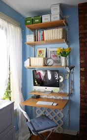 Space Saver Desks Home Office Think Vertical For A Space Saving Home Office Apartment Therapy