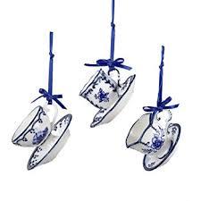 porcelain delft blue bird ornaments set of 3 home
