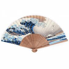 japanese fans great wave japanese folding fan