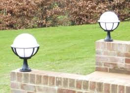 saturn pedestal light decorative globe light outdoor light