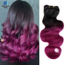 Brazilian Extensions Hair by Cheap 300g Ombre Human Hair Bundles T 1b Rose Red Two Tone Colored
