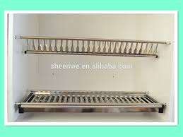 wdj160 guangzhou kitchen cabinet stainless steel plate rack with