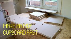 diy kitchen cabinets mdf diy make an mdf storage cupboard a timelapse tutorial