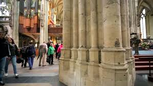 Cologne Cathedral Interior Cologne Germany April 30 2015 Steadycam View Of Interior Of