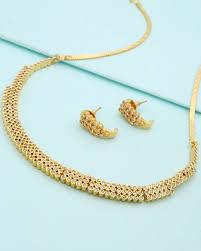 buy sleek design necklace set with cz online india voylla